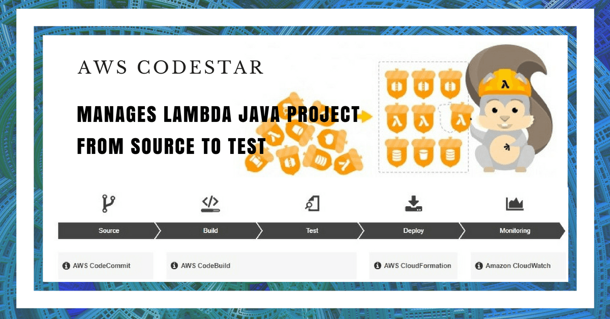 AWS CodeStar Manages Lambda Java Project from Source to Test
